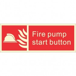 Infernocart Fire Pump Start Button Sign Board - Set of 5