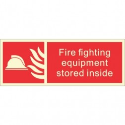Infernocart Fire Fighting Equipment Stored Inside Sign Board - Set of 5