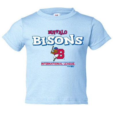 Buffalo Bisons Toddler Lt Blue Bumpy Tee