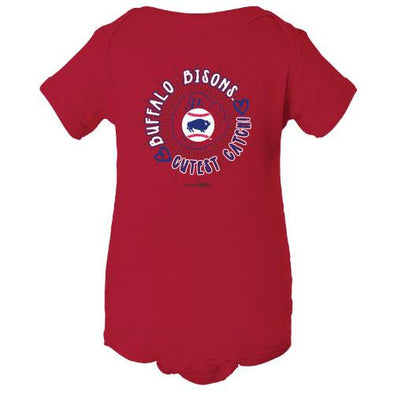 Buffalo Bisons Infant Red Cutest Catch Onesie