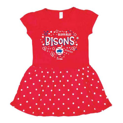 Buffalo Bisons Toddler Red Dress