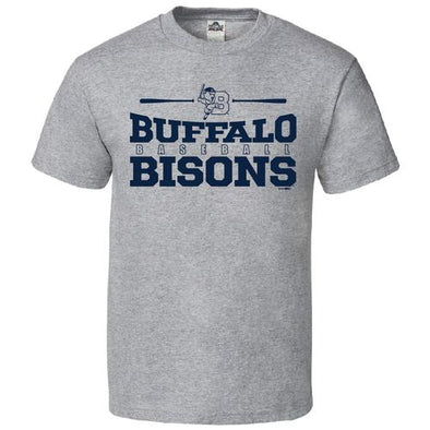 Buffalo Bisons Youth Grey How Tee