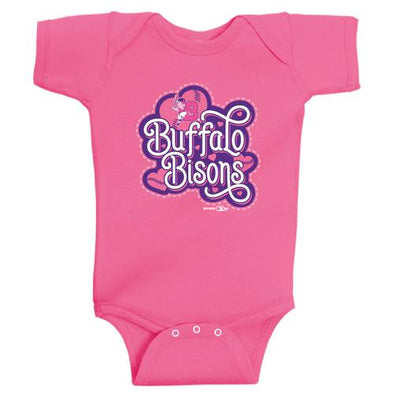 Buffalo Bisons Infant Raspberry Victoria Onesie