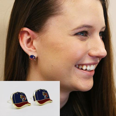 Buffalo Bisons Game Cap Post Earrings