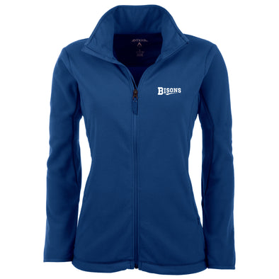 Buffalo Bisons Ladies Royal Script Ice Full Zip Fleece
