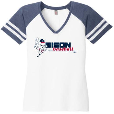 Buffalo Bisons Ladies Throwback Vneck Tee