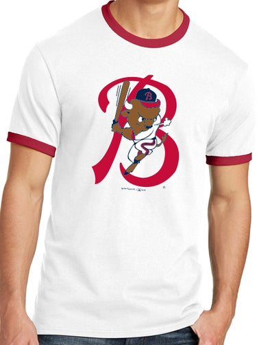 Buffalo Bisons Men's Red White Ringer Throwback Tee