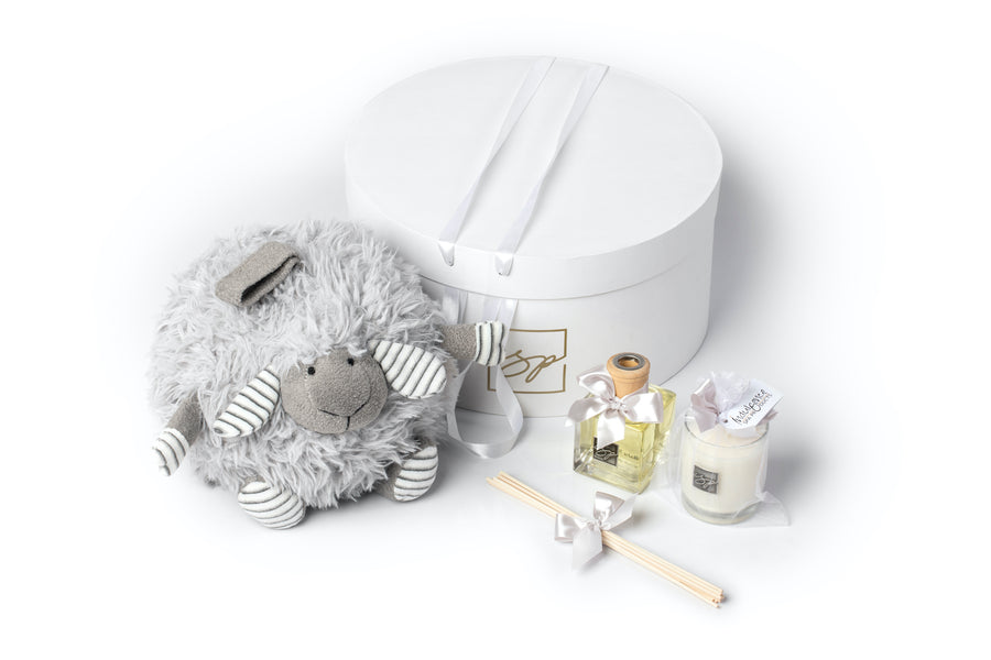 Welcome Baby Sheep Ball Gift Box