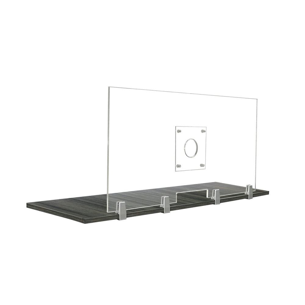 "FRONTLINE20 COUNTERTOP 24"" INVISIBLE BARRIER WITH CLEAR SPEAK THRU"