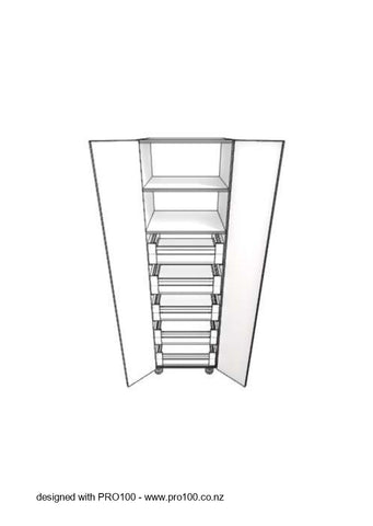 2 Door - 5 Drawer Pantry - 2100mm - Not Just Joinery