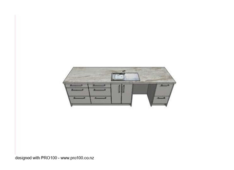 Ohau - 3000mm x 900mm Island - Not Just Joinery
