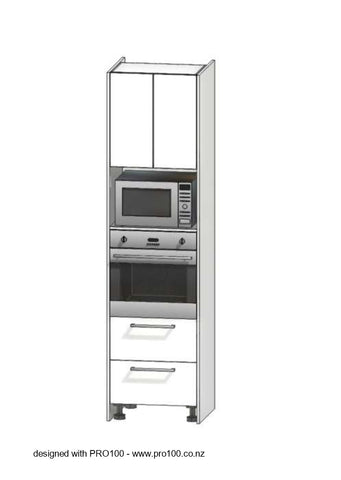 Single Oven and Microwave tower - 2400mm - Not Just Joinery