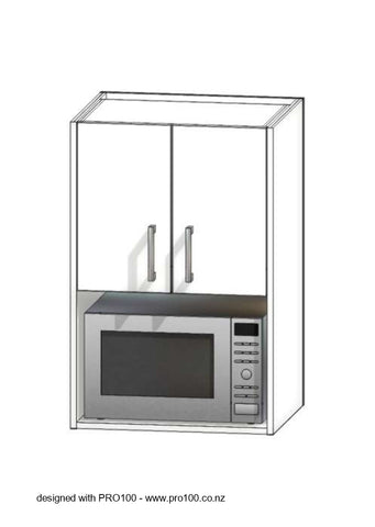 Microwave Upper Cabinet - 950mm - Not Just Joinery