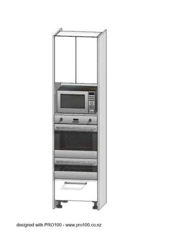 Oven and Half and Microwave tower - 2400mm - Not Just Joinery
