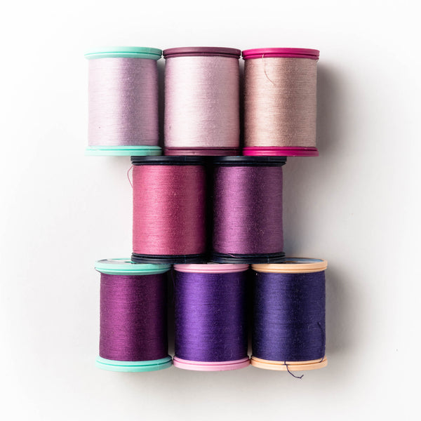 Sewing thread - pink + rose + lilac shades