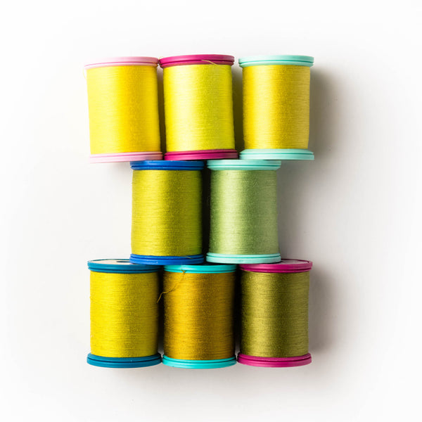 Sewing thread - yellow + chartreuse shades