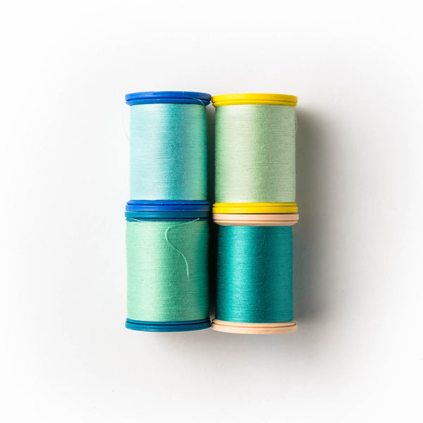 Sewing thread - turquoise shades
