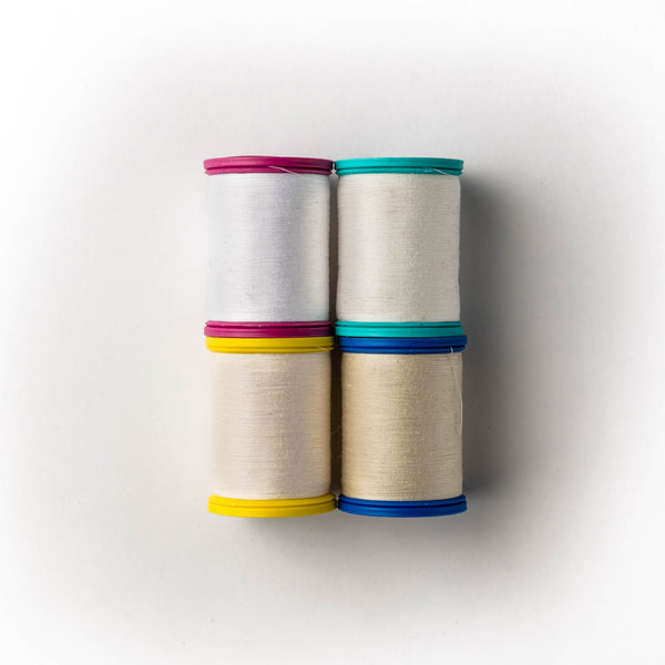 Sewing thread - white & cream shades