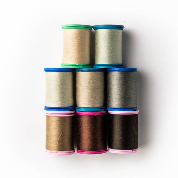 Sewing thread - brown + beige shades