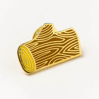 Enamel pin - log