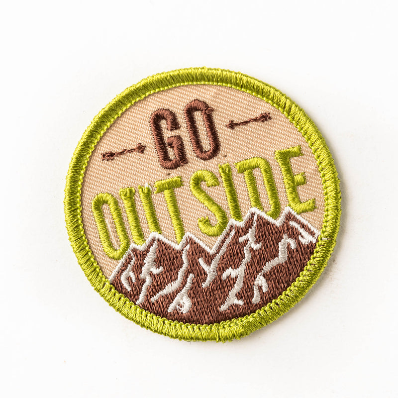 Woven patch - go outside