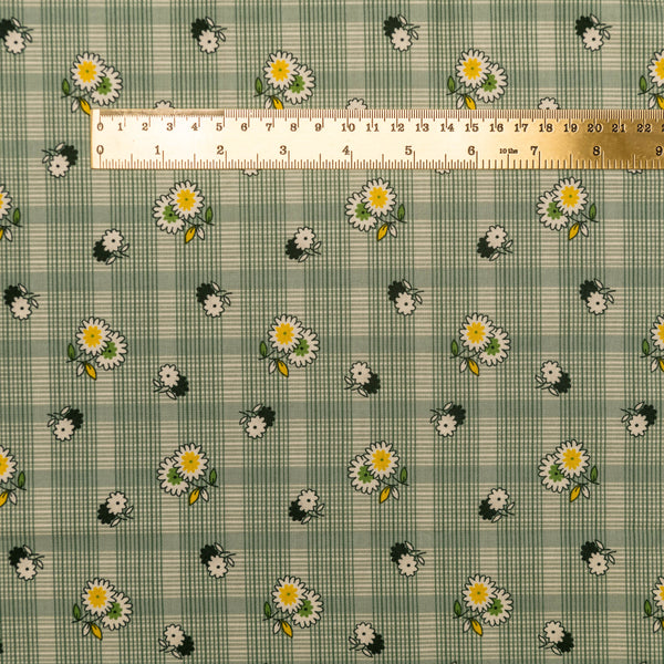 Floral Plaid - green