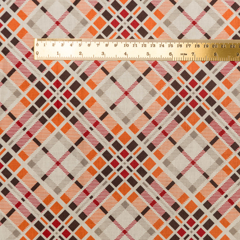Geometric Plaid - carnelian