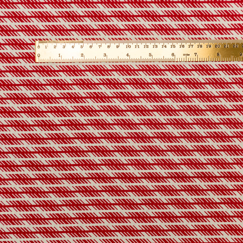 Jagged Stripe - red
