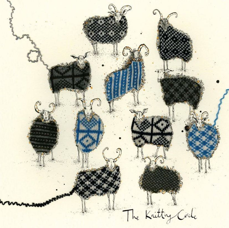 Card - knitting circle