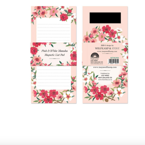 Magnetic note pad - manuka