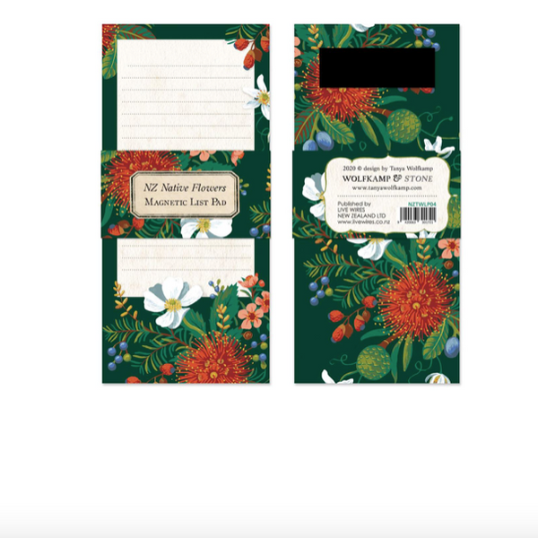 Magnetic note pad - NZ botanical