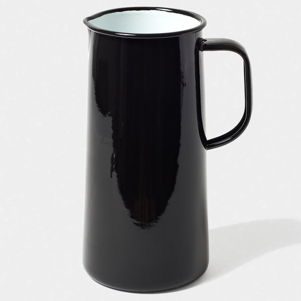 Enamel jug - 3 pint - black