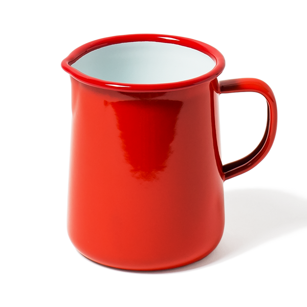 Enamel jug - 1 pint - red