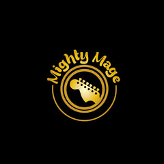 Mighty Mage Logo on Black Background
