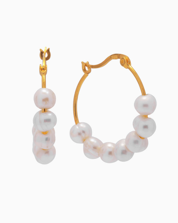 Pearl Hoops Ohrringe