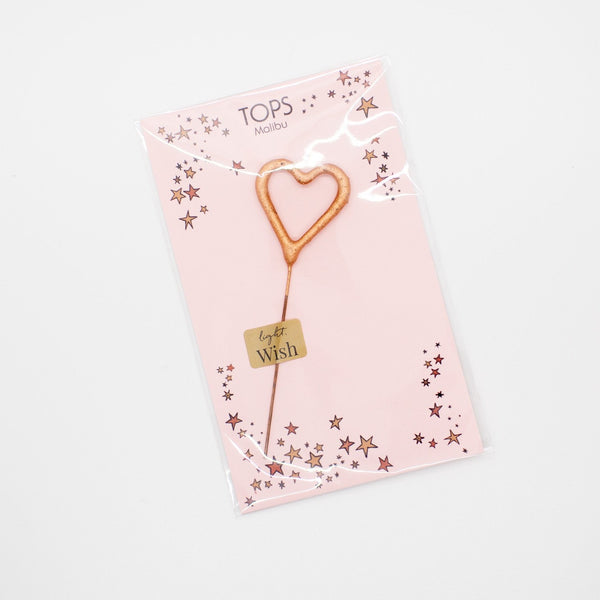 Mini Heart Sparkler - Rose Gold