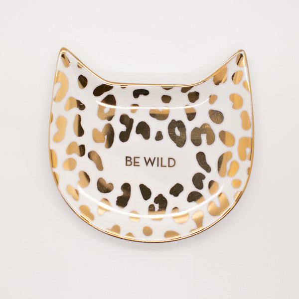 White Leopard Trinket Tray
