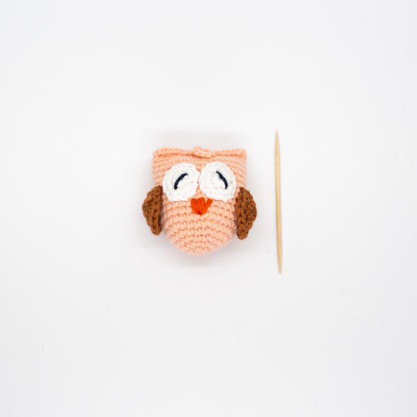 Crochet Owl - Peach