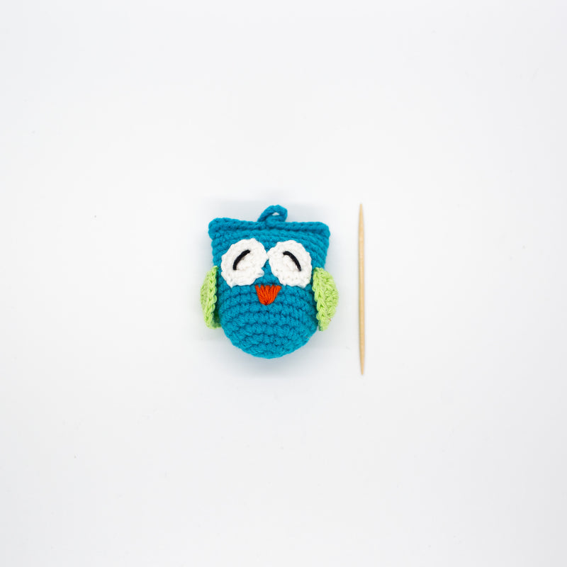 Crochet Owl - Blue