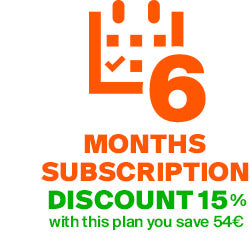 6 MONTHS SUBSCRIPTION PLAN