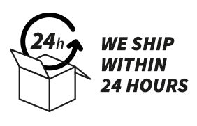 We ship within 24 hours