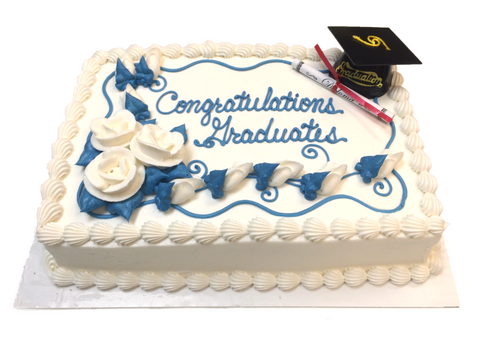 Graduation Cap Sheet Cake