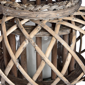 Large Wicker Basket Lantern