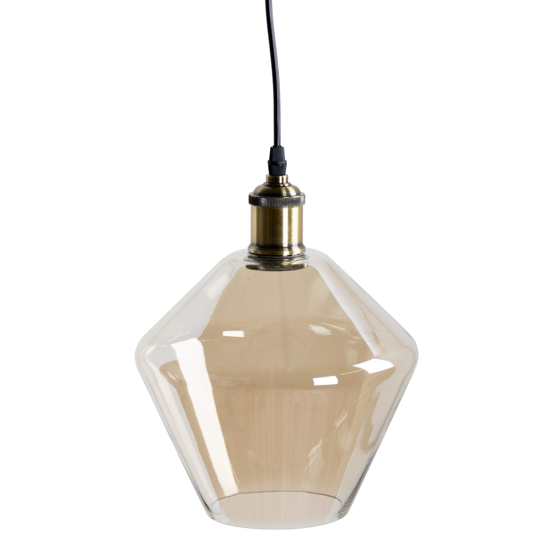 Smoked Glass Cone Pendant Light