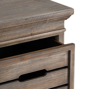 Brooklyn Distressed Pine Tall Three Drawer Chest