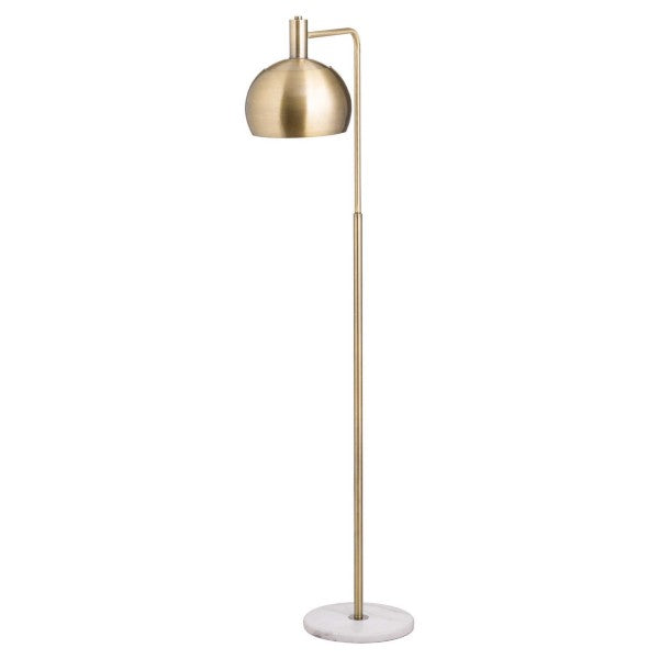 Marble & Brass Industrial Adjustable Floor Lamp