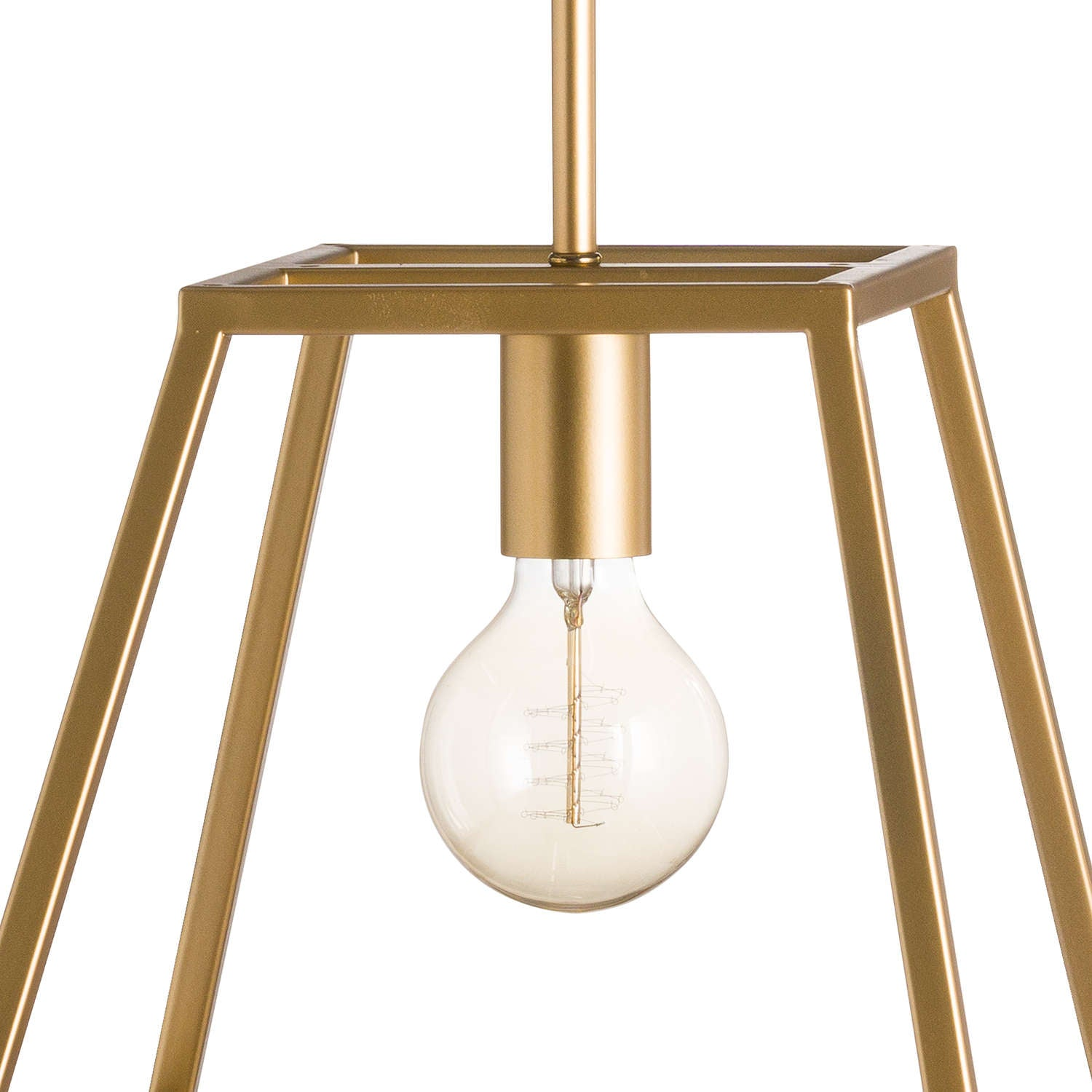 Brass Piped Pendant Light
