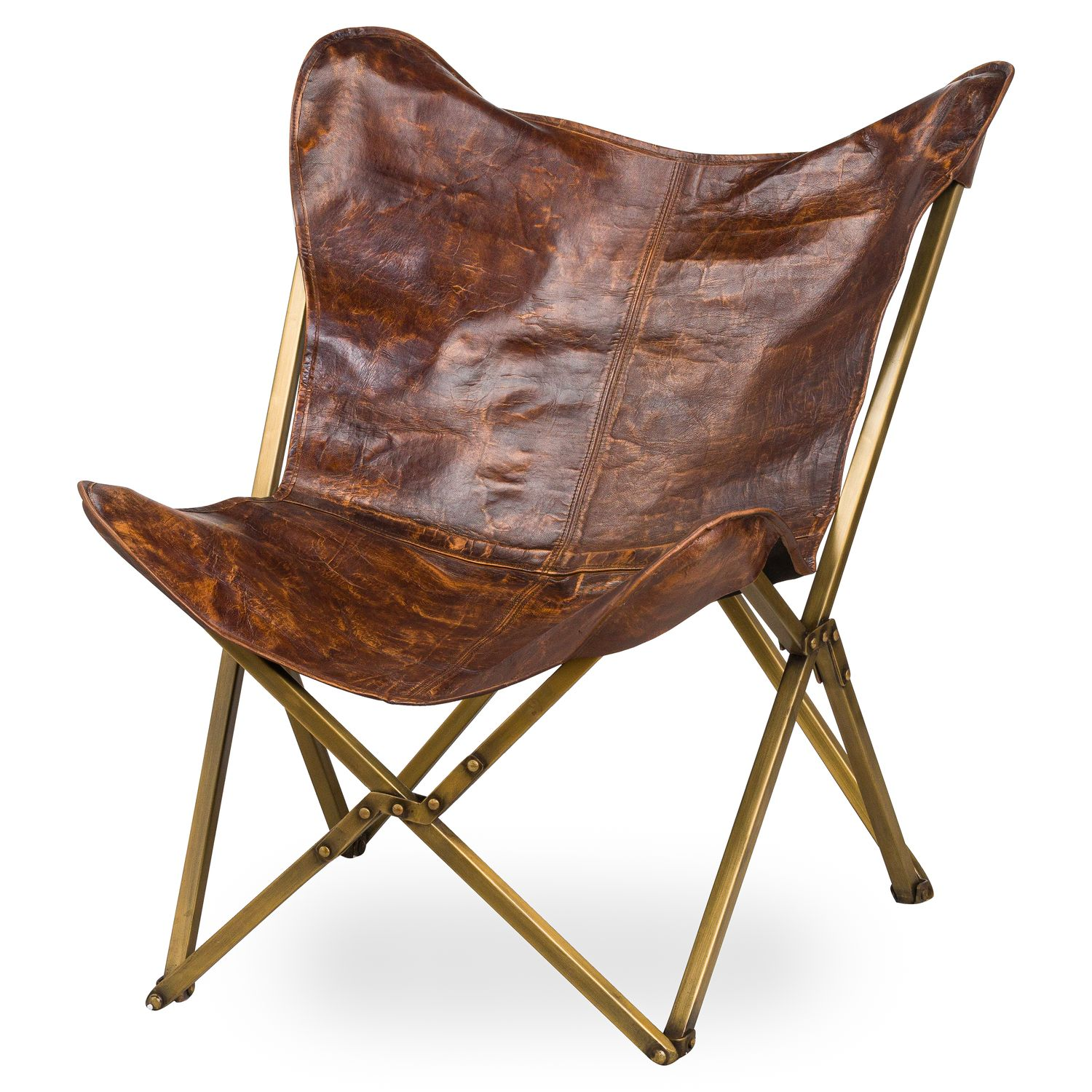 Bertie Leather Butterfly Chair
