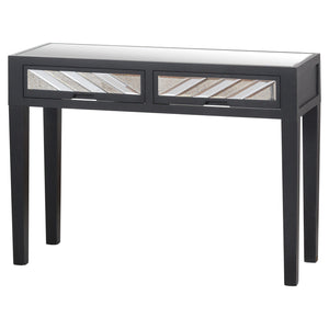 The Soho Black Mirror Collection 2 Drawer Console