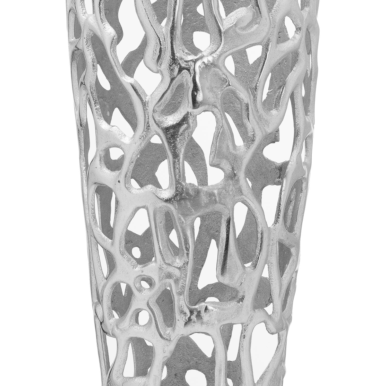 Ohlson Large Silver Coral Inspired Perforated Vase